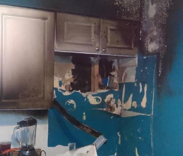 Fire Damage in East End Residential Kitchen